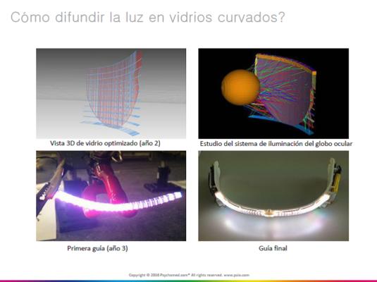 difundir luz vidrios curvados